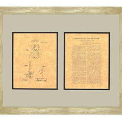 "Moulin Knife-Throwing Illusion Patent Art Print In A Natural Raw Wood Frame (16"" X 20"")"