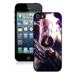 Diy Assassins Creed Desmond Miles Graphics Knife Hand Iphone 5 5S 5Th Black Phone Case