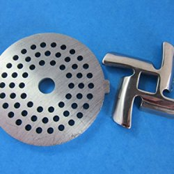 "1/8"" Disc And Knife For Waring Pro Nesco, Kalorik, Sunmile, Oster, Rival, Back To Basics Meat Grinder"