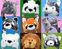 [OHAGI] イベントやパーティに かぶりもの アニマル キャップ ふわふわぬくぬく 着ぐるみ コスプレ 感覚の 動物 帽子 (パンダ)