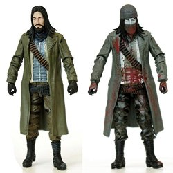 Mcfarlane Toys The Walking Dead Comic Jesus Action Figure 2-Pack (Full Color & Bloody Black And White Version)