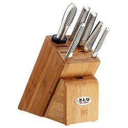 Global Japanese Knives Takashi 7 Pce Knife Set Block