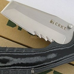 Crkt Graham Razel Veff Edge Pocket Folder Razor Chisel Micarta Knife Lawks 4035