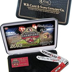 Case Cutlery Case Cutlery|Fsu-Catrpb|Red Bone Trapper Knife In Gift Box With Stainless Steel Blades|Red Bone Handle