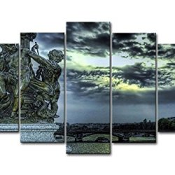 5 Panel Wall Art Painting St Petersburg Sculpture River Bridge Pictures Prints On Canvas City The Picture Decor Oil For Home Modern Decoration Print