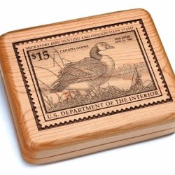 "5X6"" Box With Double Pocket Knives - Canada Goose Stamp"