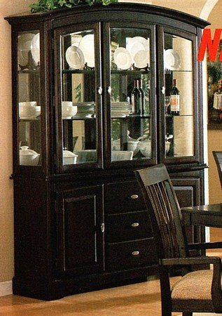 Image of Sunset Collection Cappuccino China Cabinet /Buffet Hutch (VF_AZ00-17289x30128)