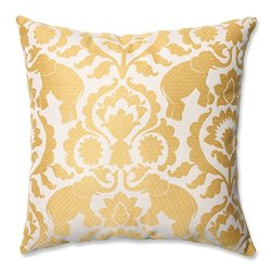 "16.5"" Babar Elegance Topaz Yellow Decorative Throw Pillow"