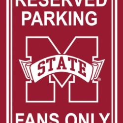 Mississippi State Bulldogs 12'' X 18'' Plastic Parking Sign Mississippi State Bulldogs 12'' X 18''