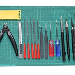 Basic Model Kit Tool Set Ⅴ : 16 Modeling Craft Tools Tweezers,Side Cutter,Knife