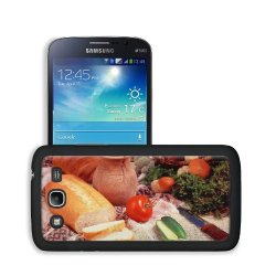 Cucumber Bread Tomato Baked Goods Herbs Knife Samsung Galaxy Mega 5.8 Snap Cover Case Premium Leather Customized Made To Order Support Ready 6 7/16 Inch (163Mm) X 3 5/16 Inch (84Mm) X 4/8 Inch (12Mm) Liil Galaxy_Mega Professional Cases Touch Accessories G