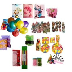 12 Person Birthday Party Favors Supplies For Girls 237 Piece Super Pack (High Quality Items) 1 Tiara, 12 Birthday Party Favor Bags, 12 Hair Clips, 12 Bracelets, 20 Tissue Paper, 24 Balloons, 16 Large Plates, 16 Small Plates, 20 Small Napkins, 20 Large Nap