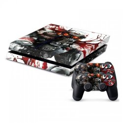 Mightystickers Protective Vinyl Skin Decal Cover For Sony Playstation 4 Ps4 Console & Remote Dualshock 4 Controller Sticker Skins - War Helghast Mask