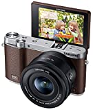 Samsung NX3000 Wireless Smart 20.3MP Compact System Camera with 16-50mm OIS Power Zoom Lens and Flash (Brown)