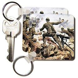 Kc_82153_1 Danita Delimont - Wwi - Wwi, Italian Troops, Italy - Eu16 Pri0094 - Prisma - Key Chains - Set Of 2 Key Chains