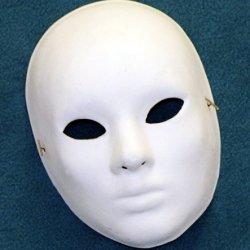 B50508 Paper Mache Blank Drama Mask