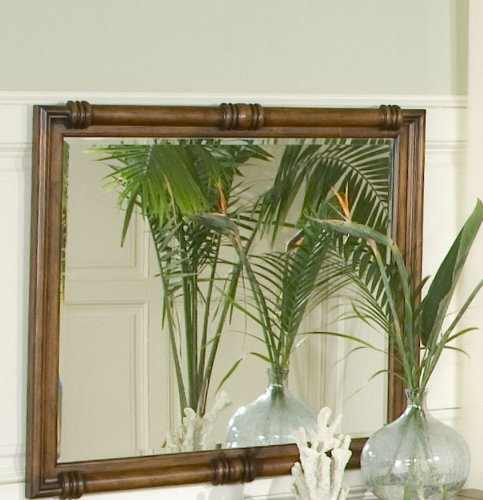 Image of Console Table Mirror - CLOSEOUT by AICO - Bungalow Brown (86260-36) (86260-36)