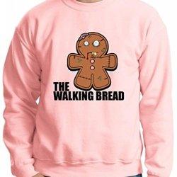 Gingerbread Zombie Crewneck Sweatshirt Large Light Pink