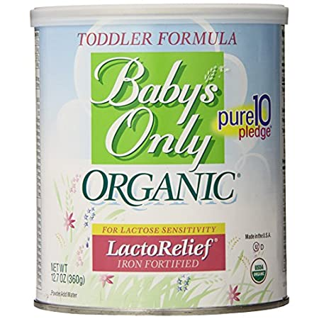 Baby's Only Organic Lactose Relief is intended for babies who are lactose intolerant and is the perfect alternative to parents who wish to avoid soy protein in their baby's diet. Baby's Only Organic Lactose Relief is a milk based formula, but the lac...