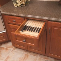 """Century Components Kb12Pf Wood Knife Block Tray Drawer Organizer, 12"""" X 22"""" Trimmable"""