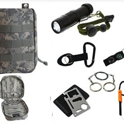 Vas Black Ops Survival Acu Pack 1 W Cree Xpe Flashlight Survival Fire Starter, Whistle, Saw & 11N1 Survival Tool