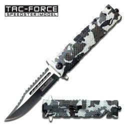 New Ao Snow Camo Tac-Force Rescue Knife Tf710Dw