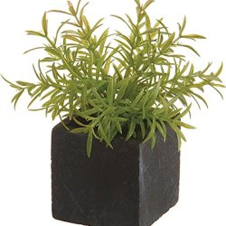 "Artificial Grass In Paper Mache Pots, 4"", 3 Per Package"