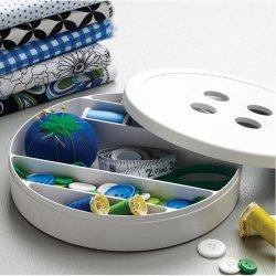Design Ideas Button Box, White