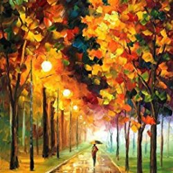 Light Of Autumn Oil Paintings Modern Canvas Wall Art Decor For Home Decoration Palette Knife On Canvas 20 X 36 In Unframed