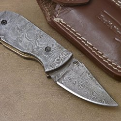 Superb Handmade Damascus Steel Folding Pocket Knife (1 Of 1) - (Liner Lock) Gi-70