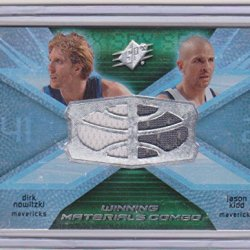 2008-09 Spx Winning Materials Combo Dirk Nowitzki And Jason Kidd Dual Game Uswed Jersey Insert Basketball Card #Wmc-Kn