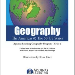 Geography, The Americas & The 50 Us States: Outline Maps Of The America And The 50 United States States, With Names, Major Cities And Blank Outline Maps