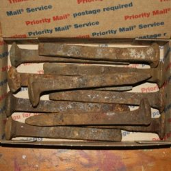 "50 Vintage Railroad Spikes 6.5"" Long Blacksmithing"