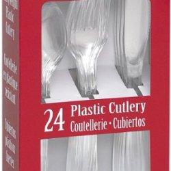 Plastic Cutlery 24/Pkg-Clear