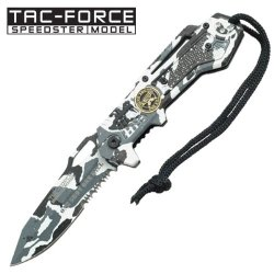 New Ao Sniper Snow Camo Rescue Knife Tf570Dw