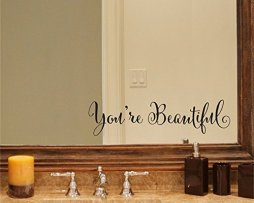 Youre-Beautiful-Quote-Mirror-Decal-Vinyl-Decal-Living-Room-Vinyl-Carving-Wall-Decal-Sticker-for-Home-Window-Decoration