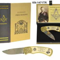 Knife Masonic T. Roosevelt In Bookshelf Case. Collector Edition