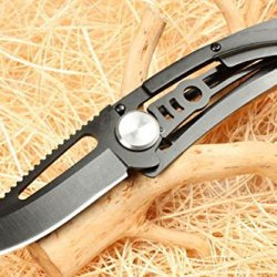 Assisted Survival Camping Swtooth Rescue Black Pocket Folding Hole Knife K-8005 6.49''