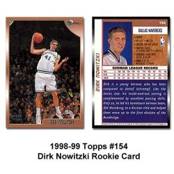 Topps Dallas Mavericks Dirk Nowitzki 1998-99 Rookie Card