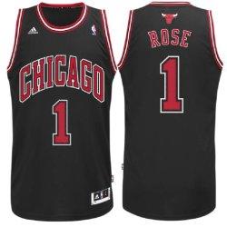 Derrick Rose #1 Youth Chicago Bulls Black Replica Basketball Jersey (Xl=18-20)