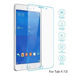 Boriyuan Tab 4 7.0 Screen Protector, [Tempered Glass Protection] Ultra Slim Crystal Clear Premium Tempered Glass Screen Protector For Samsung Galaxy Tab 4 7.0 Inch Tablet T230 T231 T235 - Brand New In Retail Package, Comes With A Micro Fiber Cleaning Clot