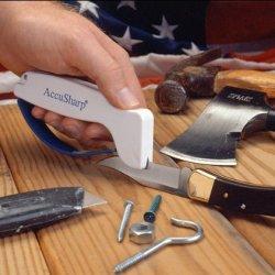 New Accusharp Rust Free White Knife And Tool Sharpener - Diamond Honed Tungsten