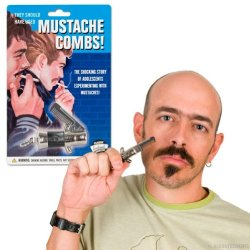Switchblade Mustache Facial Hair Grooming Comb