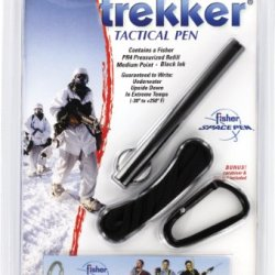 Fisher Space Pen Tactical Trekker Space Pen With Break-Away, Caranbeer And Key Ring, Clam Shell (Sct725B)