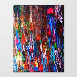 Society6 - Color Mix / Palette Knife Abstract Canvas Print By Maggs326