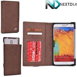 Royal Brown Genuine Leather Protective Case Fits Doogee Dagger Dg550 |Universal Fit With Stand Function + Nd Cable Wrap