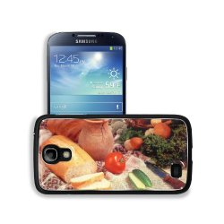 Cucumber Bread Tomato Baked Goods Herbs Knife Samsung Galaxy S4 Snap Cover Aluminium Design Back Plate Case Customized Made To Order Support Ready 5 3/16 Inch (132Mm) X 2 13/16 Inch (71Mm) X 4/8 Inch (12Mm) Liil Galaxy_S4 Professional Metal Cases Touch Ac