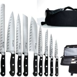 Saber F-12 Full Tang German Steel Working Chef Knives With Chef'S Knife Bag