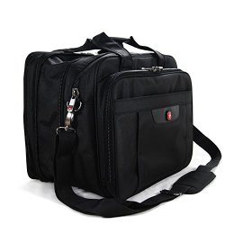 Swiss Travel Gear 13 Inch Laptop Macbook Computer Pc Single Shoulder Messengers Bag. For Tablet Ipad 2 3 4 Air Pro Plus.Outdoor Exercise Sport Pocket.Business And Casual School Fashion Stg77Ss1-Black