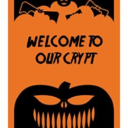 "Reflective Aluminum Halloween Sign ""Welcome To Our Crypt"" 7"" X 10"" (Hw-0029-Ra)"